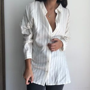 NWT Eileen fisher oversized striped buttoned shirt